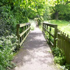 Bridge on the Breadwalk at Temple Balsall